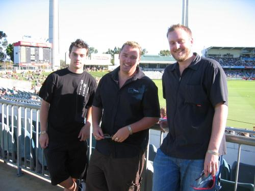 3 lovely SHI/SHI fellas at the Twenty20 Singles Cricket event