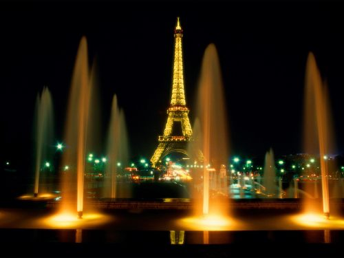 Eiffel Tower by Night - one of the fabulous places you can visit with a SHI Symbol special offer.