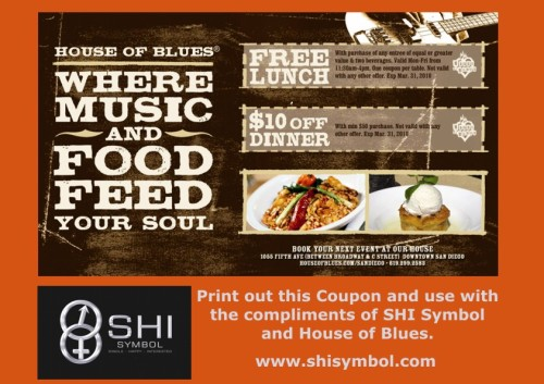 Save! Save! Save $$$ HOUSE OF BLUES/SHI Symbol COUPON to 310310 jpg