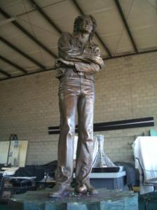 John Lennon statue in the studio