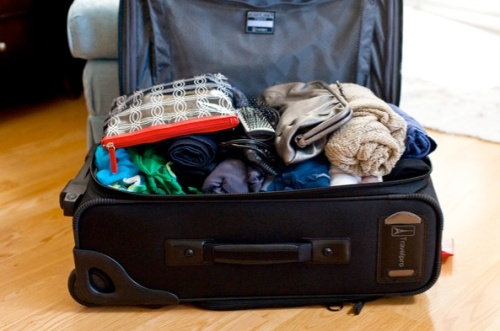 packed bag ready to close without sitting on it! - NY Times